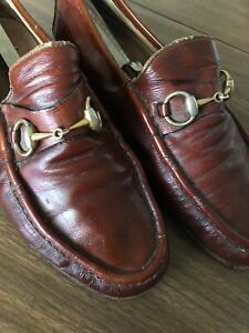 Vintage Used Gucci Loafers Men Leather