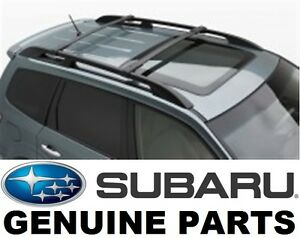 Subaru Forester Roof Rack Ebay >> 2009 2013 Subaru Forester Oem Cross Bars Roof Rack E361ssc300 Ebay