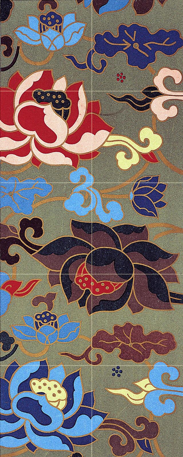 Art Oriental Flowers Kitchen Mural Ceramic Tiles Home Decor Tile  2514