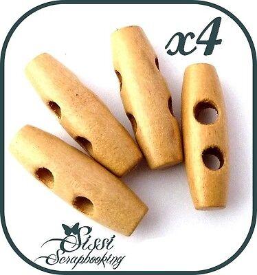 Lot de 10 boutons de 4 cm en bois dor/é 40 mm pour couture tricot Aran Duffle Coat