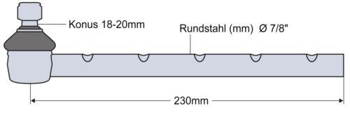 Kugelgelenk Kugelkopf für Ford//New Holland 5000