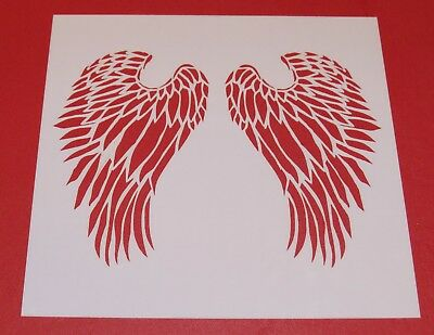 BNIP FREE P /& P Angel Wings Mixed Media Stencil Mask