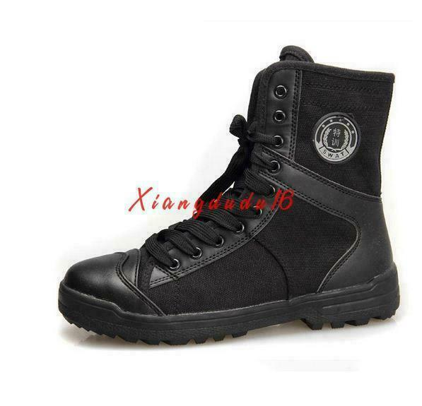Men's Canvas Military Combat Tactical outdoor work Special forces High Top Boots
