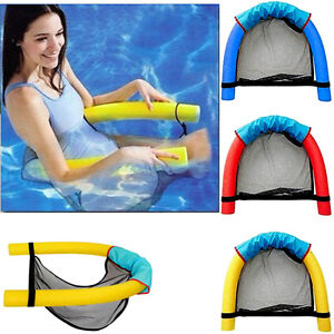 Details about New Swimming Pool Floating Chair Lounge Seat Noodle Water Mat  Swim Float Stick J
