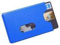 3 - 25 X Kartenhüllen Blau Stabil Magnetkarten Schutzhülle Ausweis Chipkarte