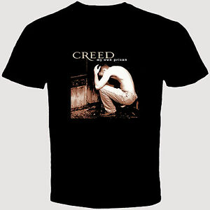 new creed my own prison rock band album mens black t shirt post grunge ebay. Black Bedroom Furniture Sets. Home Design Ideas