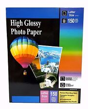"""Premium Glossy Inkjet Photo Paper 8.5""""x11"""" Letter Size 150 sheets Weight 110gsm"""
