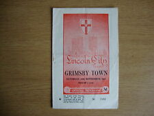 1957/8 Lincoln City v Grimsby Town - League Division 2 - Good Condition