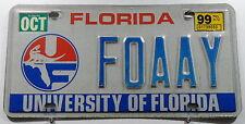 """USA Nummernschild aus Florida """"UNIVERSITY OF FLORIDA"""" mit Wappen. 11726."""