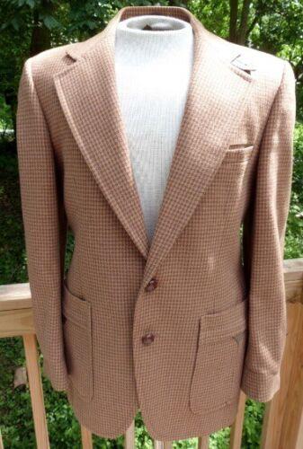 Ratner VTG 60's 70' Mens Dogtooth Wool Blazer sz 4