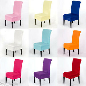 1PC Stretch Short Corduroy Dining Chair Cover Seat Protector Machine Washable