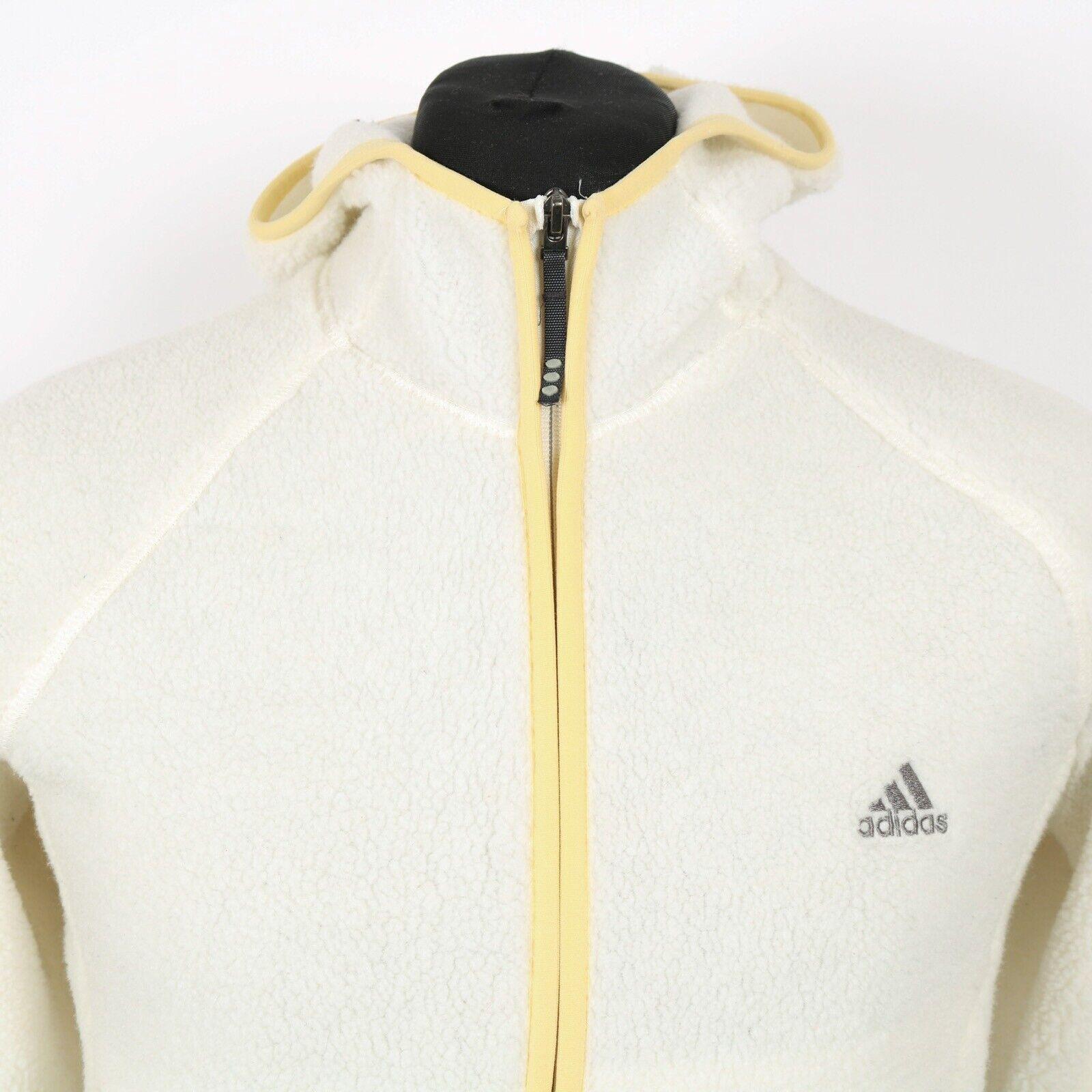 Vintage ADIDAS Thick Sherpa Fleece Hooded Jacket   Hoodie Climawarm Coat Retro