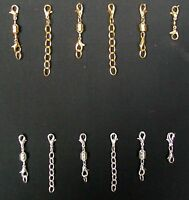 6 Magnetic Conversion Clasps + 6 Jewelry Extenders Silvertone/goldtone Gsp685