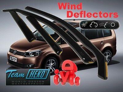 4 Pieces HEKO-31143 Front Rear Wind Deflectors Fits VW TOURAN 2003 on 5-Door Hatchback