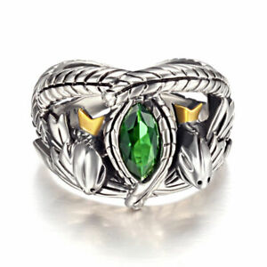 Bague-Barahir-Aragorn-Lord-of-The-Rings-Argent-Massif-925-Sterling-Silver-chaine