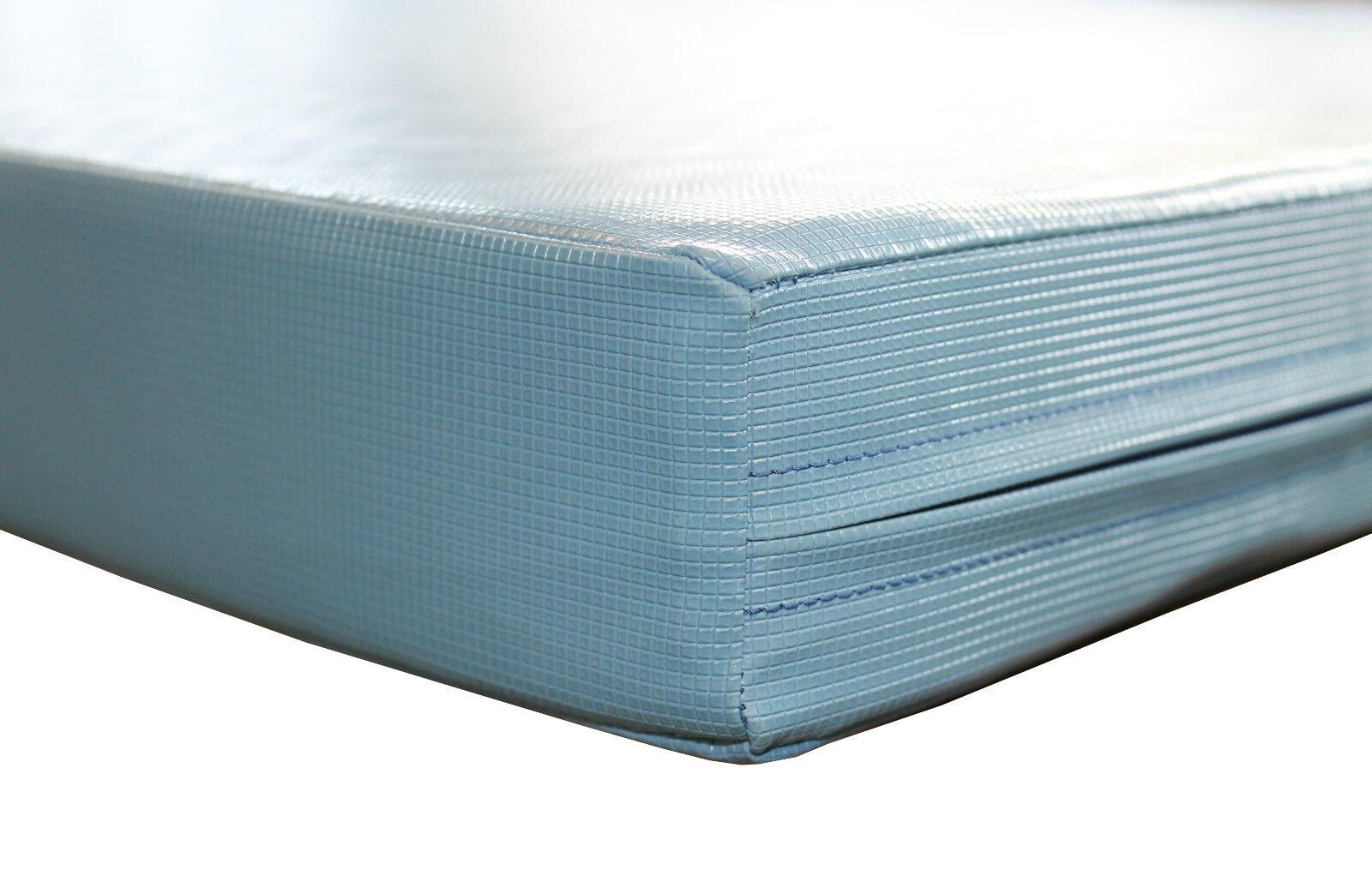 Grevinga® KIDS Superleichtturnmatte SOFT mit RAND (RG 200 22) 200 (RG x 100 x 8 cm blau b4d4b0
