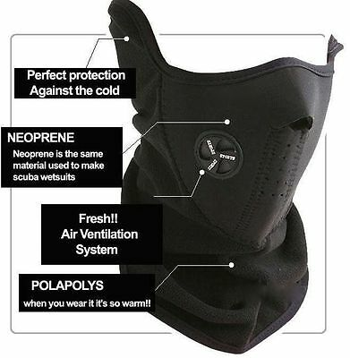Black Ski Snowboard Motorcycle Bicycle Winter Neck Warmer Warm Sport Face Mask J