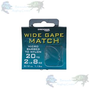 Drennan Wide Gape Match Micro Barbed to Nylon 35cm