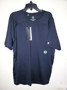 Mens-Under-Armour-Rush-Black-Short-Sleeve-Athletic-Shirt-50-New-NWT-Size-2XL