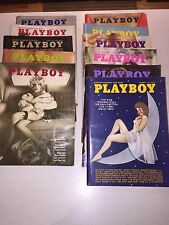 1973 Playboy Magazines 11 Issues (10 w/Centerfolds) 1st Full Frontal Nudity