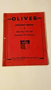 ORIGINAL-OLIVER-Row-Crop-Standard-034-77-034-tractors-Operator-039-s-Manual