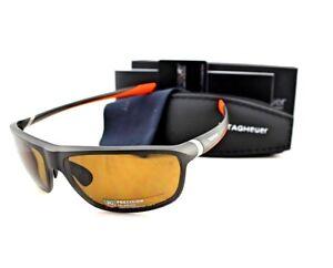 70e45ea3d2 POLARIZED New TAG Heuer 27 Degrees Brown Orange Wrap Sunglasses TH ...