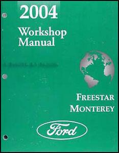 2004 ford freestar mercury monterey van shop manual. Black Bedroom Furniture Sets. Home Design Ideas