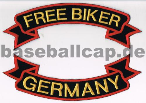 Rückenpatch Rückenaufnäher Free Biker Germany Aufnäher Patches 5 73 10