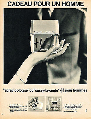 Breweriana, Beer Confident Publicite 1967 H Pour Homme Spray-cologne Lotion Lavande Reasonable Price Collectibles