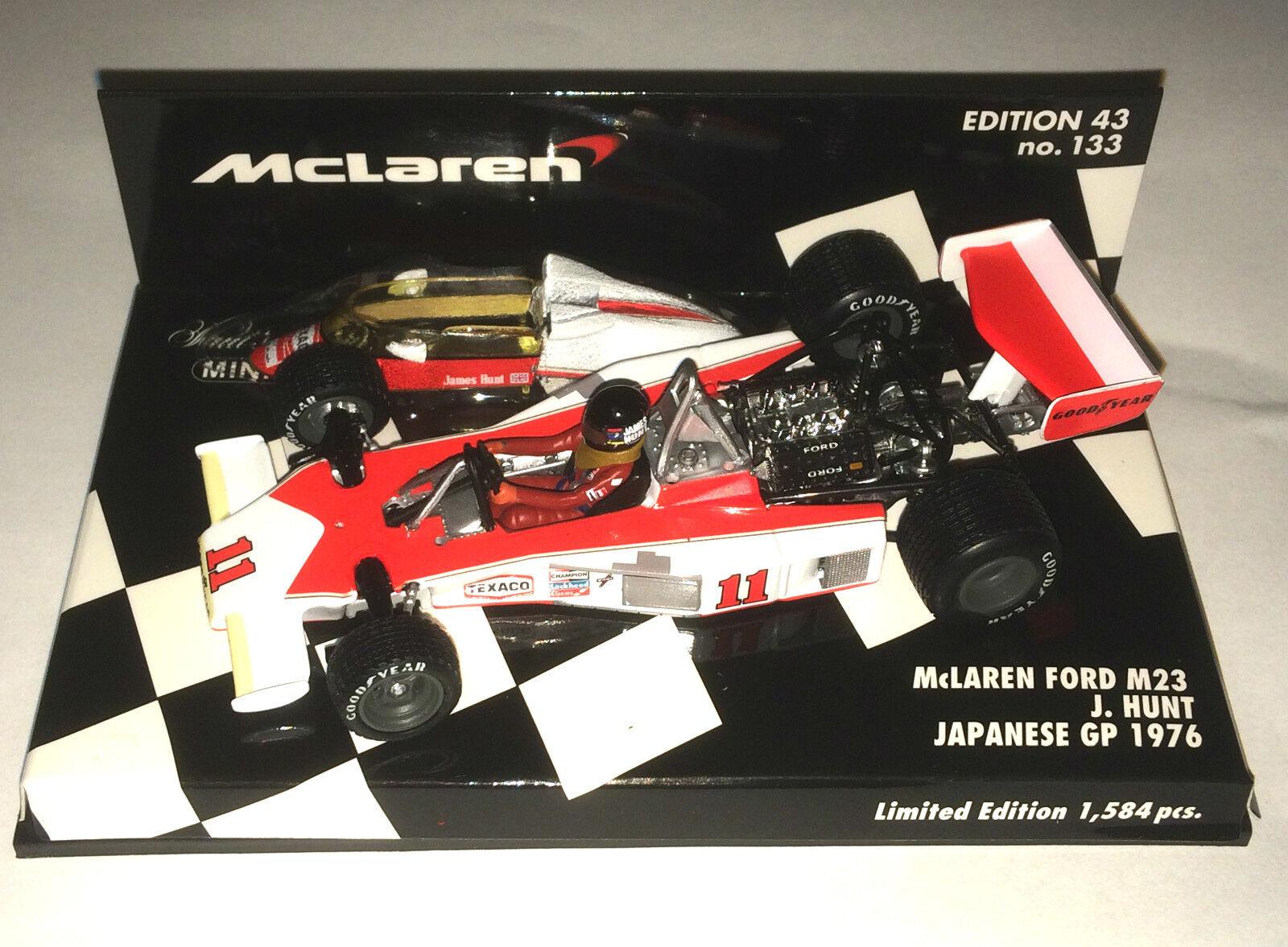 Minichamps F1 1 43 McLaren Ford M23 caza Japón GP 1976-Edición Limitada-neumáticos de lluvia