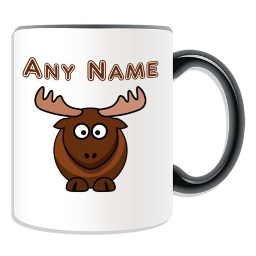 Personalised Gift Moose Mug Money Box Cup Name Tea Coffee Silly Deer Reindeer