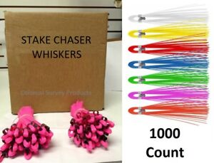 Stake Whiskers / Chasers, 1000 Count, Choose Color
