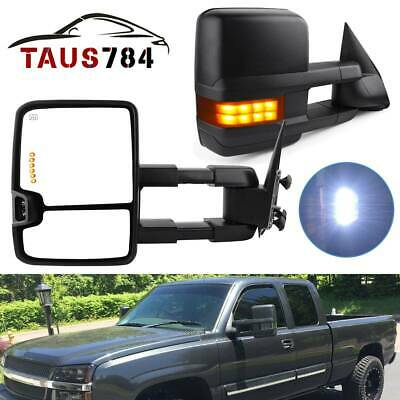 Right 03-06 Chevy Siverado Pickup Truck Extending Tow Power Heated Function Smoke Mirrors Left