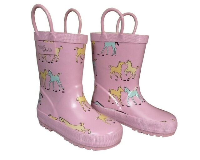 fa3fdc232bb Pink Pony Toddler Girls Rain BOOTS 10