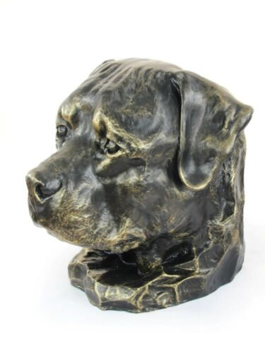 dog head urn made of Resin CA ArtDog Rottweiler