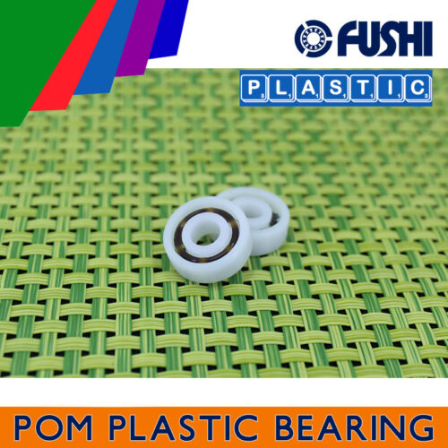 5 PCS Glass Balls Nylon Cage Plastic Ball Bearings POM 604 Bearing 4*12*4 mm