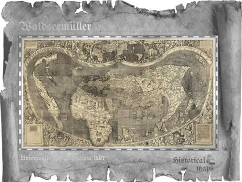 Cook 2018 $5 Waldseemüller Historical Maps 30g Silver Proof Coin