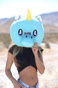 unicorn plush helmet mascot head costume japan animal cosplay