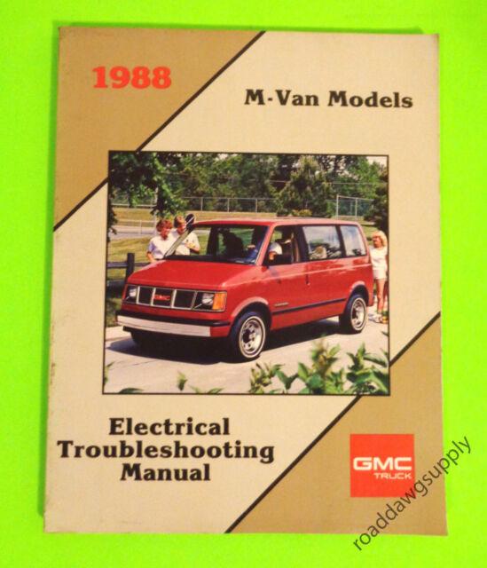 1988 Gmc Safari Electrical Wiring Diagrams Service Shop