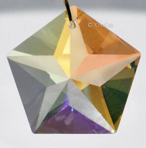 Star-Suncatcher-30mm-Crystal-Clear-AB-Pentagon-Chevron-Prism-Pendant-1-1-8-inch
