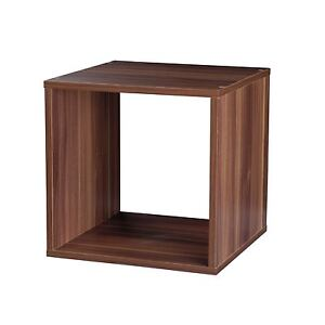 Image Is Loading Teak Wooden Storage 30cm Cube Box Side Table