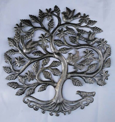 """Tree of Life with Birds and Flowers Metal Art Signs Home Decore Home Decor 24/"""""""