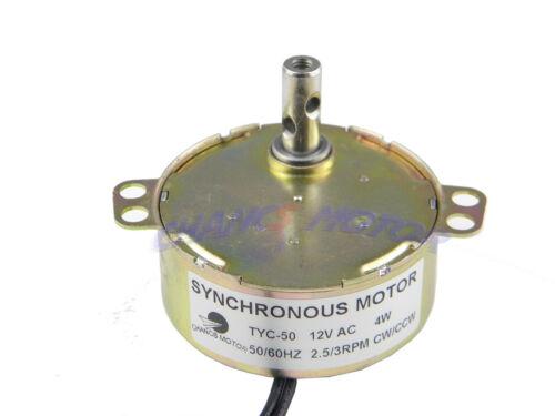 PMSM Motor Synchronous Motor TYC-50 AC 12V 2.5-3RPM CW//CCW 4W For Christmas Tree