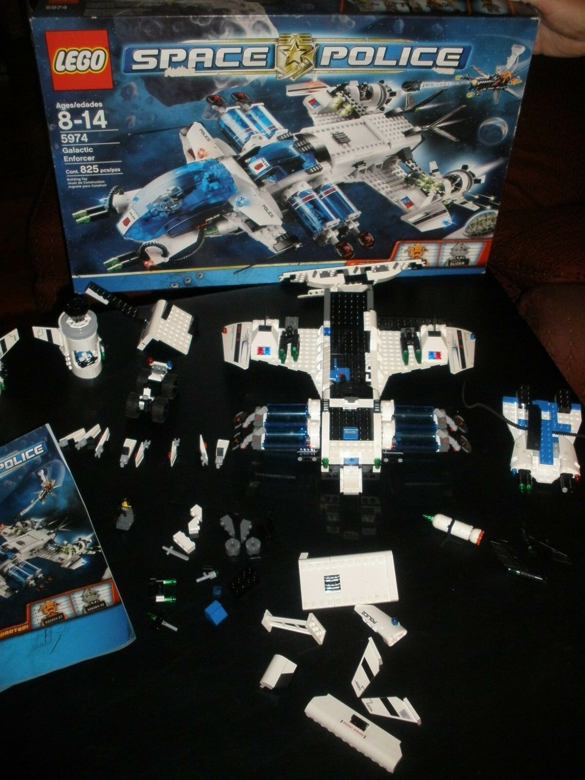 Lego Space Police Galactic Enforcer 5974 with Box & Instructions not complete
