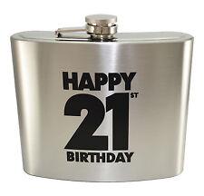 946.4ml Gigante Acciaio Inox Felice 21 Compleanno Large Fiaschetta (1.6 Pints)