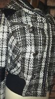 Blanc Noir Black & White Plaid Jacket Size M