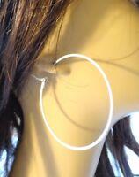 3 Inch Hoop Earrings Simple Thin Hoop Earrings White Or Black Hoops