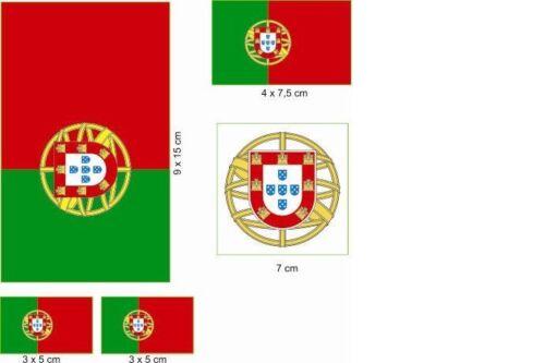 Aufkleberbogen Portugal Aufkleber Set Flagge Fahne