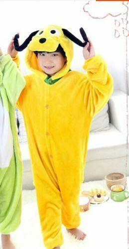 Hot Sale Unisex Kids Kigurumi Pajamas Anime Cosplay Costume Sleepwear++