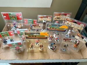 LEMAX Christmas Village Holiday Figurine Lot 1999-2017 NEW 13 pcs Santa Cat Dog